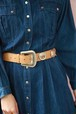 emboss leather concho belt