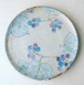 手づくり陶芸 いっちん描き絵皿 野葡萄  Pottery Icchin painted plate 'Nobudo '