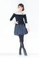 A-00751 ギャザーバルーンスカート ブラック SALE