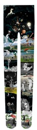 Collage print tights『Sen』