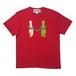 手錠刺繍Tシャツ RED