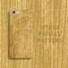 Wood Paisley 木目彫刻プリント ライトオーク材風 スマホカバー