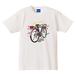 スーパーカー自転車 Tシャツ(バニラホワイト)