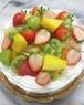 【4号】季節のフルーツデコレーションケーキ【12cm】