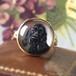 Victorian Reverse Crystal Intaglio Cocker spaniel Ring