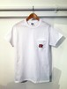 【T-Shirt】柴田聡子 / 柿ピー犬ポケットTシャツ(白)
