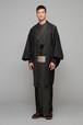 羽織 / 米沢織 / ふくれ / Black(With tailoring)