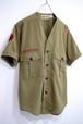 1970's BSA 襟無しタイプ オフィシャルシャツ カーキ 実寸(XS位) ボーイスカウト
