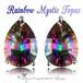 虹色の万華鏡☆SV925 ミスティックトパーズ ペアシェイプ 4.7ct しずく型 スタッド ピアス   11月 誕生石