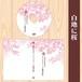 レーベルジャケットテンプレート(白地に桜)