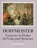 ホフマイスター:協奏曲 二長調 / ヴィオラ・ピアノ