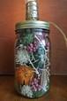 Ball Jar Flower Stand Lamp