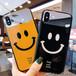 2色 iPhoneケース ★ スマイル 可愛い おそろい ペア iphone 保護 ケース