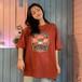 カジュアル 夏 可愛い ラウンドネック 半袖 ログ Tシャツ・トップス