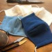 【送料無料】備後絣 立体マスク ダブルガーゼ  藍染