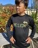 BE:LION.  ドライロングスリーブTシャツ  ブラック/KAMO