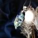 ゆらめく宇宙のガラスペンダント/【宇宙の鉱石、わけあり品】00302-1