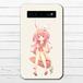 #075-002 モバイルバッテリー うさみみ かわいい 女の子 可愛い iphone スマホ 充電器 タイトル:うさみみ少女 作:つるせ