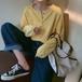 【送料無料】ニット ニットプルオーバー 前ボタン 綺麗色 長袖 ボリューム袖 無地 授乳 春色  カラバリ豊富