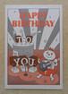 レタープレス ポストカード Happy Birthday