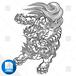 【png画像素材】唐獅子7 Lサイズ  横2270px × 縦3000px