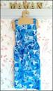 ホルターネック エプロン03 ブルー パッチワーク ペンギン柄