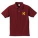 K ポロシャツ(バーガンディー×山吹色)