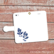 【送料無料】 手帳型スマホケース 葉っぱからのおくりもの1(青×白)