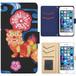 Jenny Desse iPhone 8 ケース 手帳型 カバー スタンド機能 カードホルダー ブラック(ブルーバック)