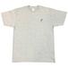 島刺繍 T Shirts (Gray×Navy)