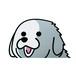 グレートピレニーズ(小)     犬ステッカー