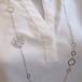 【猫のジュエリー】K18WG&YGフラワーシルエット猫パーツ付きデザインロングネックレス