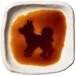 立ってるポーズの柴犬のシルエットが浮かぶお醤油小皿(四角)
