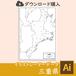三重県の白地図データ