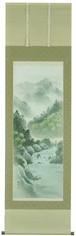 彩色山水 後藤桂月 尺五立 6054