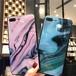 マーブル 大人 カラー iPhone シェルカバーケース ピンク ブルー ブラック シンプル お洒落 個性的 ★ iPhone 6 / 6s / 6Plus / 6sPlus / 7 / 7Plus / 8 / 8Plus / X / SE(第2世代)★ [MD232]