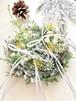 雪の野花リングピロー完成品