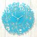 【名入れ】コーラル クロック ハワイアン 掛時計 (ターコイズ)