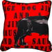 Jimmie Martin Cushions Red Graphic sausage dog [BACK]