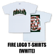 FIRE LOGO T-SHIRTS[WHITE]