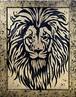 Lion Sculpture Gold【Original picture】