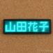 LEDネームプレート 緑