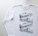 ピタゴラチェック【5.6oz Long T-shirt】
