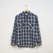 WORK SHIRT WITH ELBOW PATCH (LINEN CHECK)