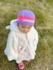 ベビー用 ニット帽&ニット靴セット フラワー