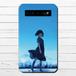 #048-002 モバイルバッテリー かわいい おしゃれ アニメ柄 女の子 綺麗  iphone スマホ 充電器 タイトル:青空の君 作:みふる