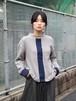 【SALE】Quatorze カフス刺繍プルオーバー grey