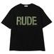 RUDE BIG SILHOUETTE TEE - GLITTER (BLACK) / RUDE GALLERY