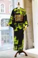 JUNKO KOSHINO浴衣 レディース ポリエステル(セオα) 洗える 仕立上がり 冴№25 黄緑