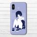 #085-001 iPhoneケース スマホケース iPhoneXS/X おしゃれ 女の子 Xperia iPhone5/6/6s/7/8 かわいい 少女 ARROWS AQUOS タイトル:violet 作:灰染せんり